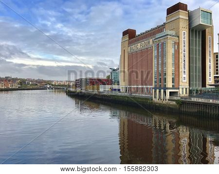GATESHEAD - NOVEMBER 9: The Baltic Centre for Contemporary Art next to The River Tyne on November 9, 2016 in Gateshead, UK.