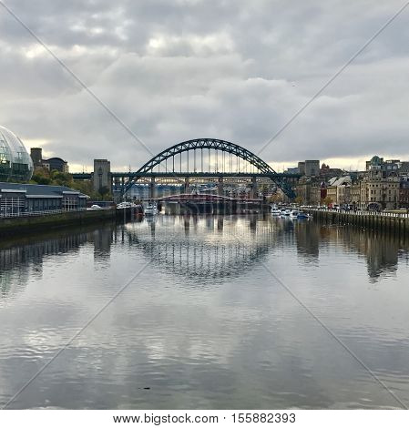 NEWCASTLE - NOVEMBER 9: The Tyne Bridge on November 9, 2016 in Newcastle, UK.