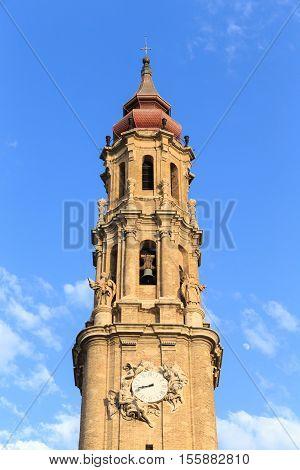Cathedral of La Seo in the famous Plaza del Pilar Zaragoza Spain