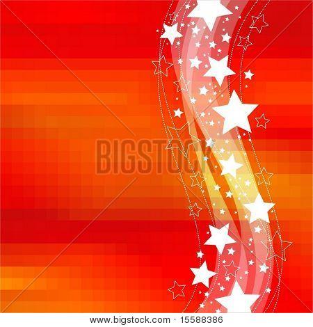 Illustration with stars