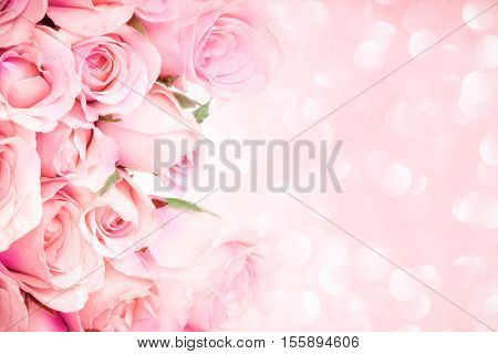 close up sweet light pink on pink abstract lighting background with copy space for love and romace concept background