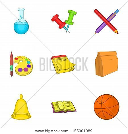 Academy icons set. Cartoon illustration of 9 academy vector icons for web