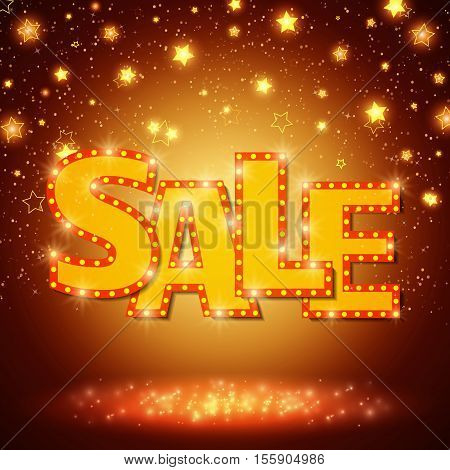 Shine Sale On Shining Stars Background