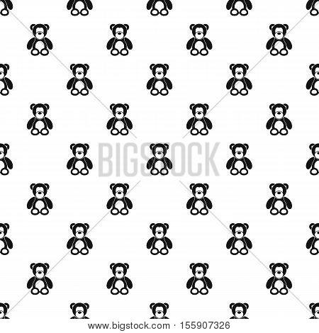 Teddy bear pattern. Simple illustration of teddy bear vector pattern for web