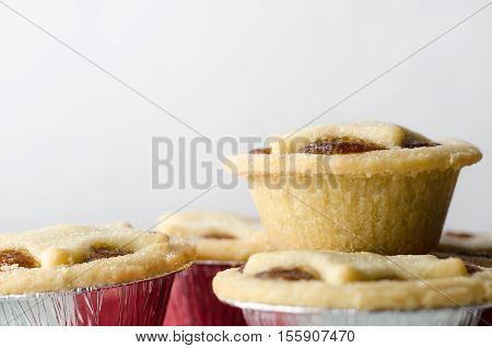 Stack Of Mince Pies With Copy Space