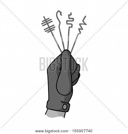 Lockpicks icon in monochrome style isolated on white background. Crime symbol vector illustration.
