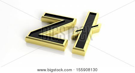 3D Rendering Poland Zloty On White Background
