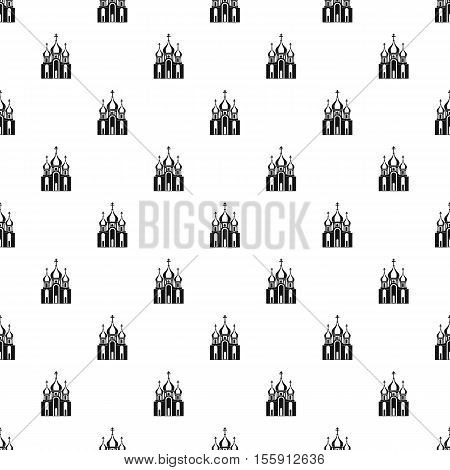 Orthodox church building pattern. Simple illustration of orthodox church building vector pattern for web