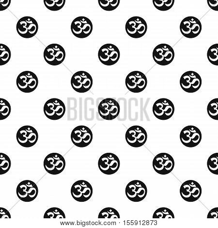 Ohm symbol pattern. Simple illustration of ohm symbol vector pattern for web