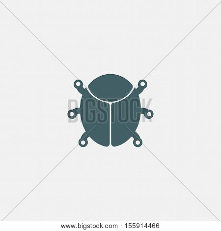 shield bug icon vector isolated on white background