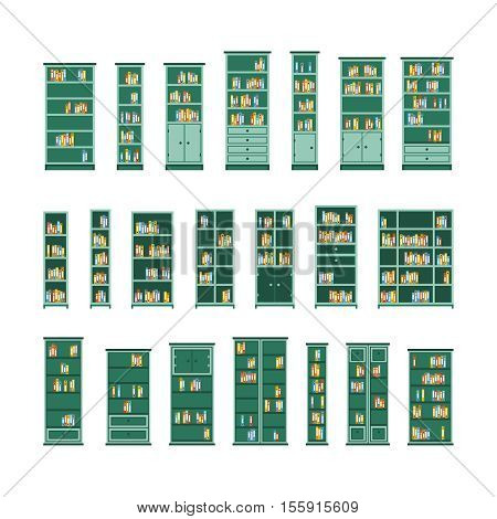 Vector Interior Furniture Set In Flat Style Isolated On White