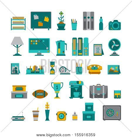 Common Vector Interior Objects Set In Flat Style