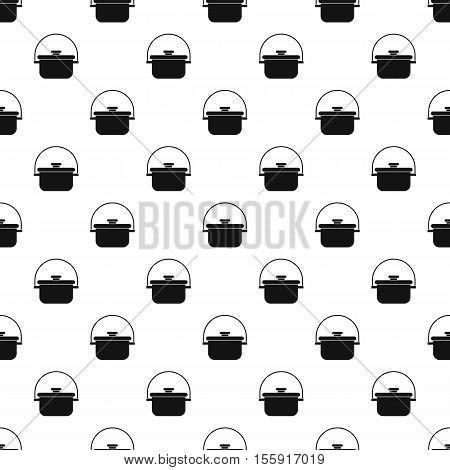 Cooking cauldron pattern. Simple illustration of cooking cauldron vector pattern for web