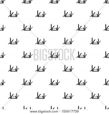 Multifunction knife pattern. Simple illustration of multifunction knife vector pattern for web
