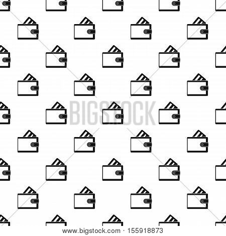 Wallet with credit card pattern. Simple illustration of wallet with credit card vector pattern for web