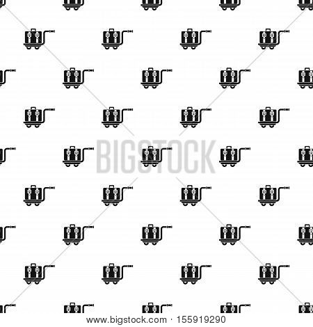 Suitcase on a cart pattern. Simple illustration of suitcase on a cart vector pattern for web
