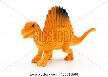 Spinosaurus toy model on white background, toy