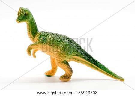 Pachycephalosaurus dinosaur toy model on white background