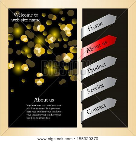 Vector web navigation template with arrows - illustration