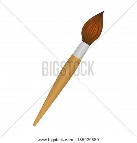 paint brush icon imagev ector illustration design