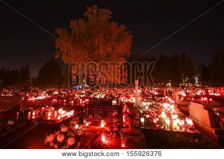 Ornated Cemetery On All Saints Day