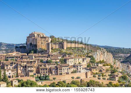 Mountian Village Alquezar In The Pyrenees
