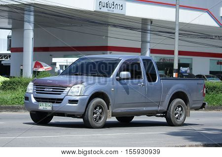 CHIANG MAI THAILAND - OCTOBER 9 2016: Private Pick up Truck Isuzu D-maxdmax. Photo at road no 121 about 8 km from downtown Chiangmai thailand.