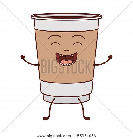animated disposable recipiente for hot drinks vector illustration