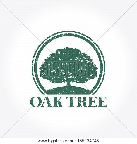 Oak Tree Logo, Creative design vector illustration
