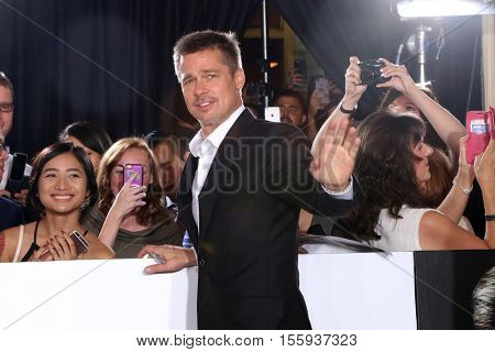 LOS ANGELES - NOV 9:  Brad Pitt, Fans at the
