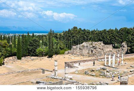 Greece Dodecanese Kos the Asclepieion archaeological site