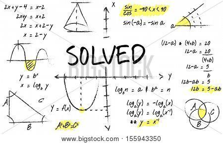 Methematics Math Algebra Calculus Numbers Concept