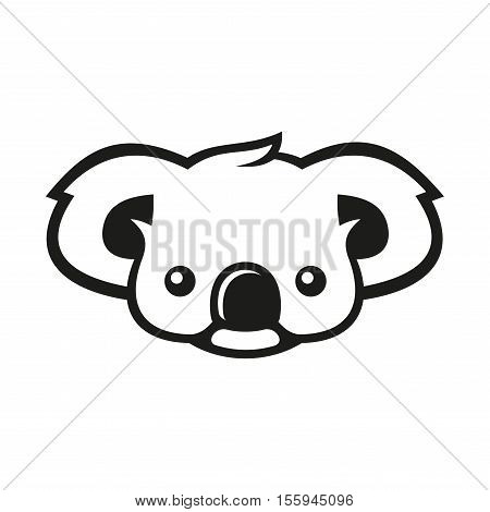 Koala Bear Sign Logo. Koala. Vector Illustration