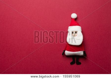 Christmas Santa Claus over red background for decoration