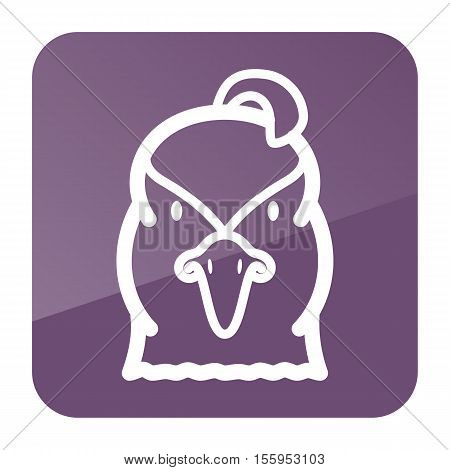 Quail icon. Animal head vector symbol eps 10