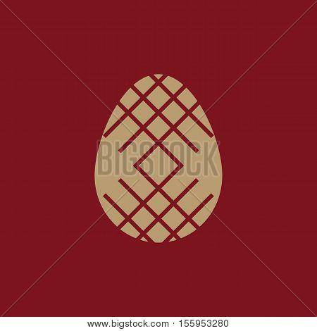 The Easter icon. Easter, egg symbol. UI. Web. Logo. Sign Flat design App Stock vector