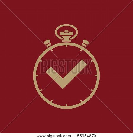 Time icon. Time and watch, timer, 24 hours symbol. UI. Web. Logo. Sign Flat design App Stock vector