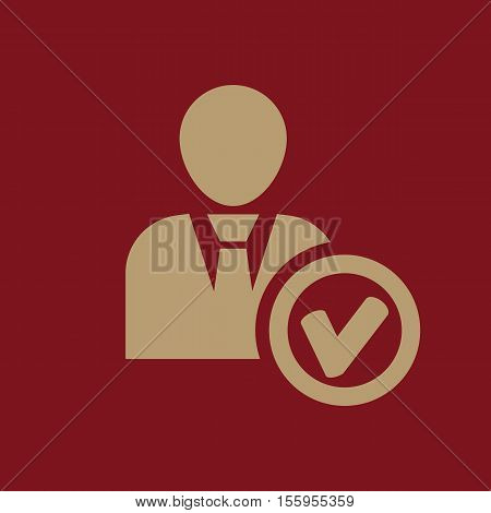 The add user icon. Add friend and avatar symbol. UI. Web. Logo. Sign. Flat design. App Stock vector