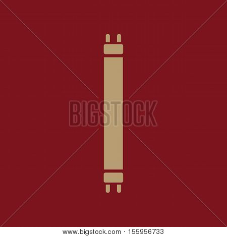 The fluorescent light bulb icon. Lamp and bulb, lightbulb symbol.UI. Web. Logo. Sign. Flat design. App Stock vector