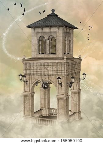 Fantasy Tower 3D Rendering