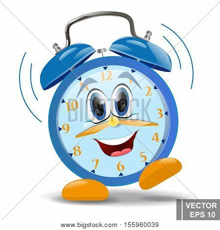 Cartoon. Alarm clock. Morning. Time. For your design.