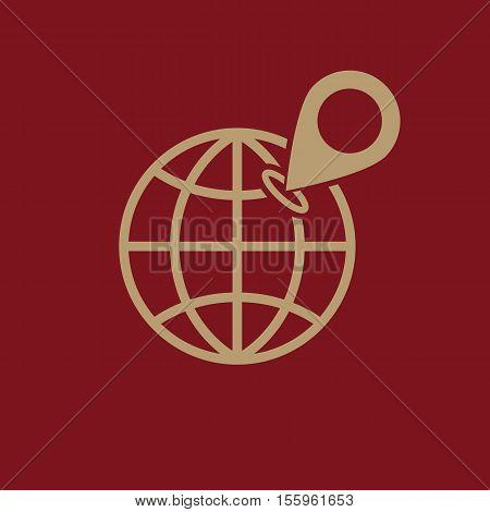 The SEO icon. WWW and browser, development, seo symbol. UI. Web. Logo. Sign Flat design App Stock vector