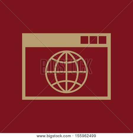 The WWW icon. SEO and browser, development, WWW symbol. UI. Web. Logo. Sign Flat design App Stock vector