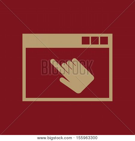 The website icon. WWW and browser, development, seo, website symbol. UI. Web. Logo Sign Flat design App Stock vector