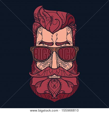 Ornate hipster Vector illustration in Zentangle style. Hand drawn design elements. Vector illustration