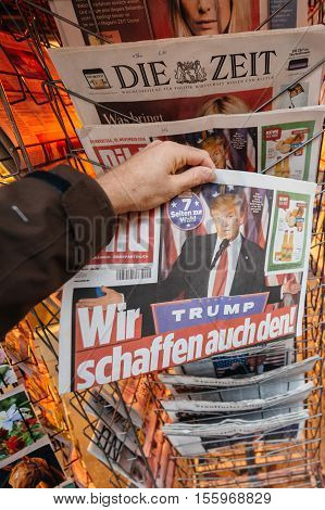 Bild Magazine About Donald Trump New Usa President