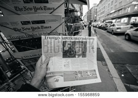 American Press Donald Trump New Usa President