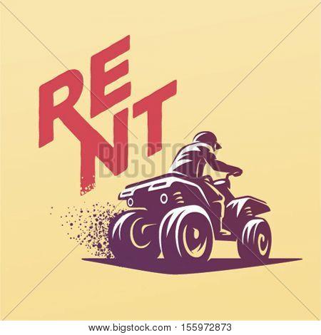 ATVs emblem. Rent