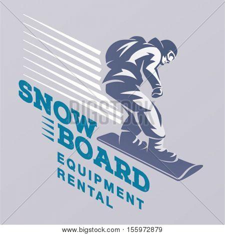 Snowboarding emblem