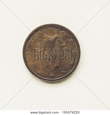 Vintage Irish 2 Cent Coin